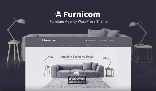 Wordpress Theme: Free Furnicom - Elementor Furniture Store
