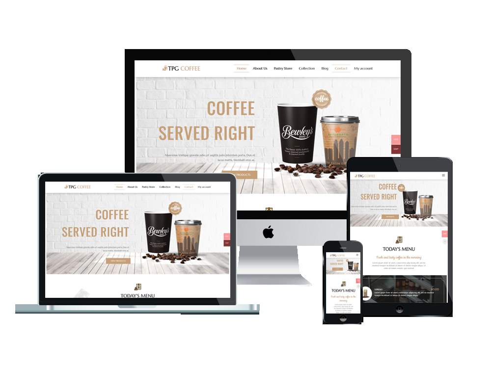 Wordpress Theme: TPG Coffee – Best Free Responsive Beverage Website template