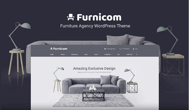 Wordpress Theme: Free Furnicom - Elementor Furniture Store