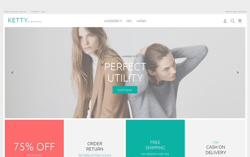 Magento Template: Ketty Magento 2 Beta