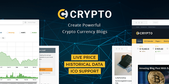 Wordpress Theme: Crypto – A Bitcoin & Cryptocurrency WordPress Theme