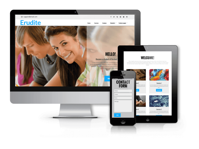 Wordpress Theme: Erudite - WordPress  Education Theme