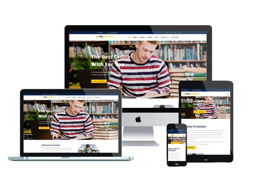Wordpress Theme: TPG eSchool – Free Online school WordPress Theme
