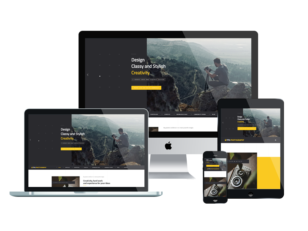 Wordpress Theme: TPG Photography – Free WordPress Photo Gallery theme