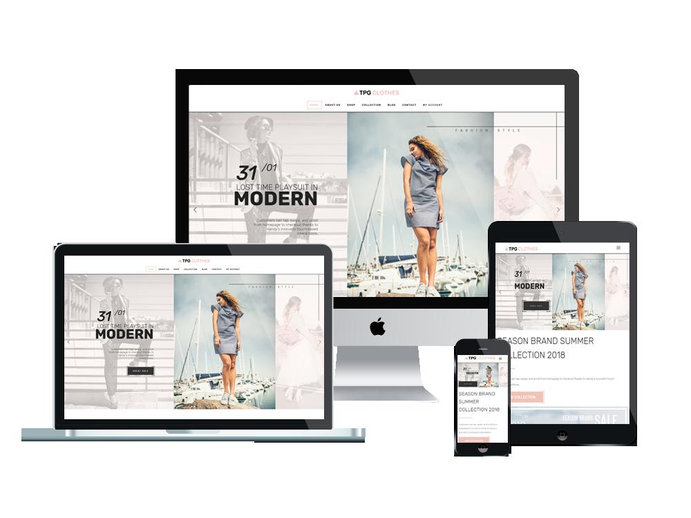 Wordpress Theme: TPG Clothes – Free Clothing WordPress theme