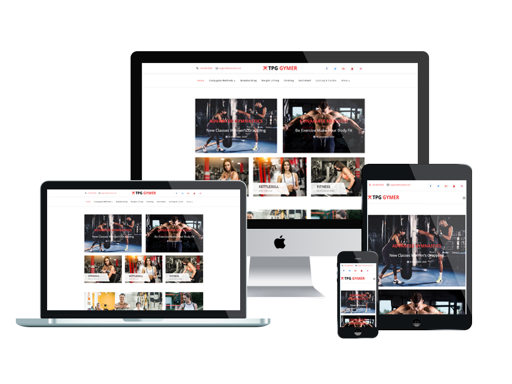 Wordpress Theme: TPG Gymer– Best Free Responsive WordPress Fitness theme