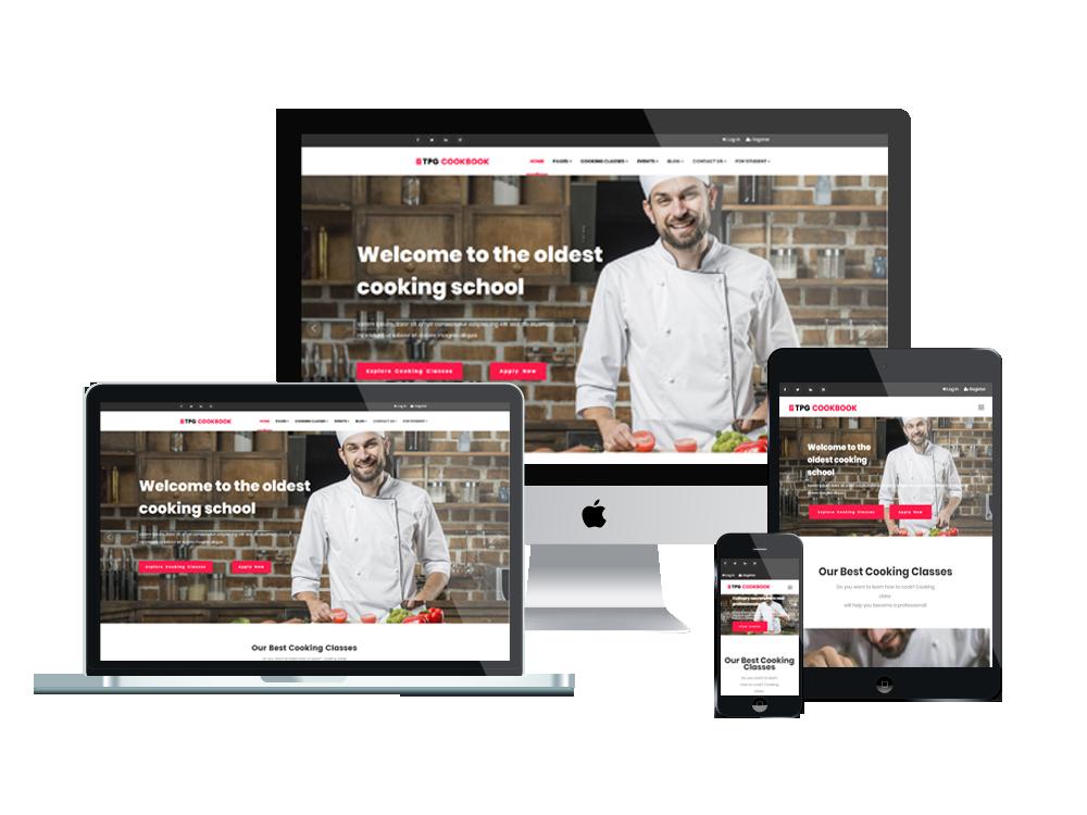 Wordpress Theme: TPG CookBook – Best Free Responsive Kitchen WordPress theme