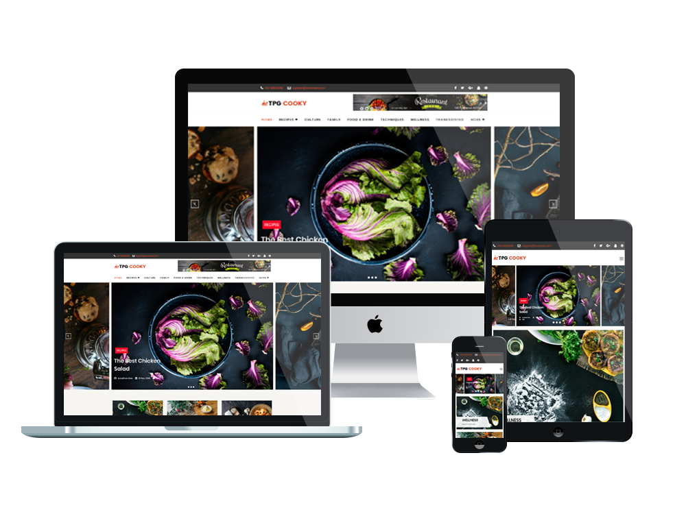 Wordpress Theme: TPG Cooky – Best Free Responsive WordPress Food Blog Theme
