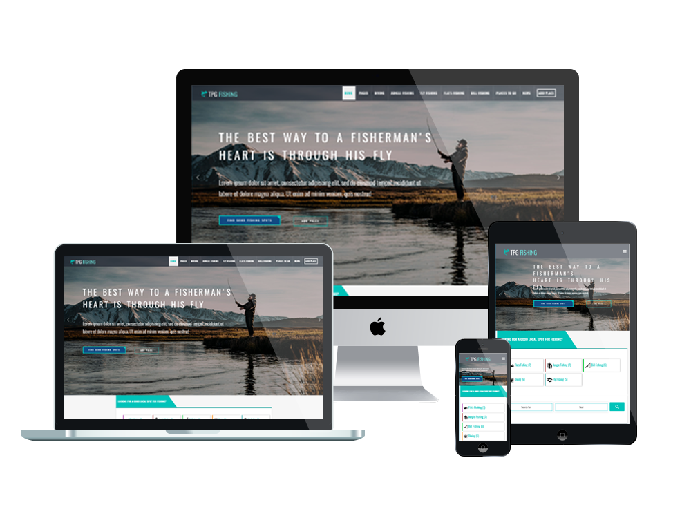 Wordpress Theme: TPG Fishing – Free WordPress Fishing theme