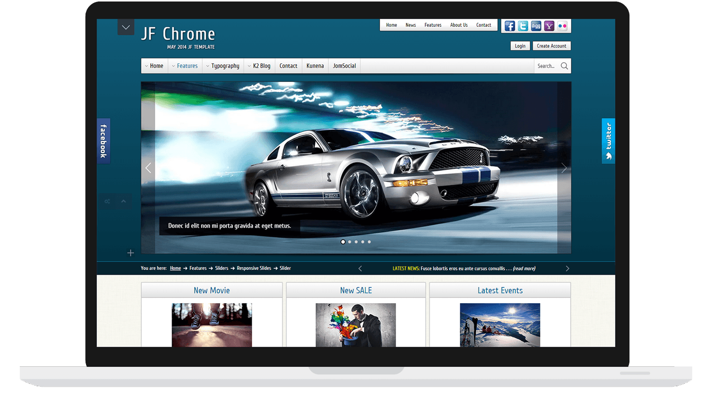 Joomla Template: JF Chrome