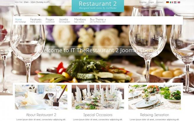 Joomla Template: IT TheRestaurant 2