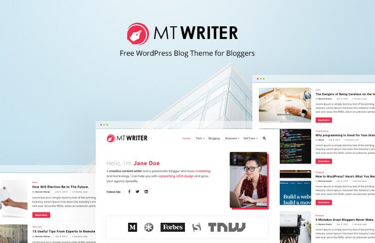 Wordpress Theme: MT Writer - Free WordPress Blog Theme For Bloggers