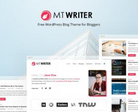 Wordpress Themes: MT Writer - Free WordPress Blog Theme For Bloggers