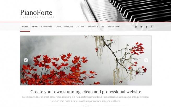 Joomla Template: PianoForte