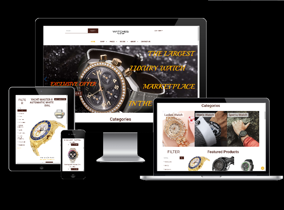 Joomla Template: Watches Shop - Virtuemart Joomla template