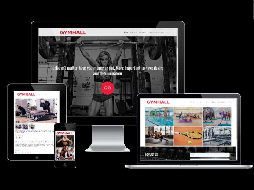 Joomla Template: Gym Hall - Joomla Sport template
