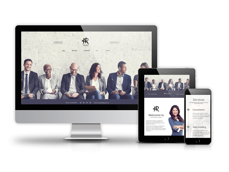 Joomla Template: Human Resource Management - Joomla recruitment template