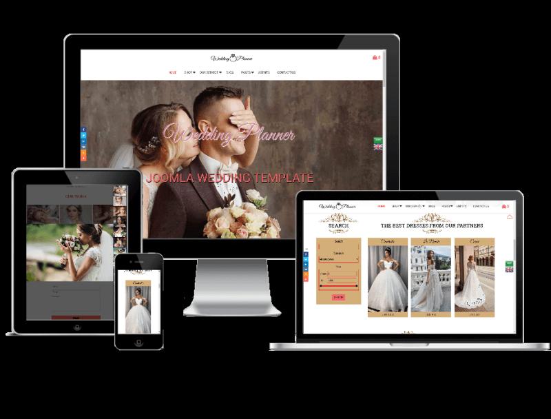 Joomla Template: Wedding Planner - Wedding Joomla template