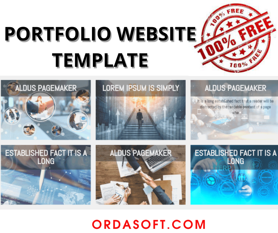 Joomla Template: Free Portfolio Website Template - Section