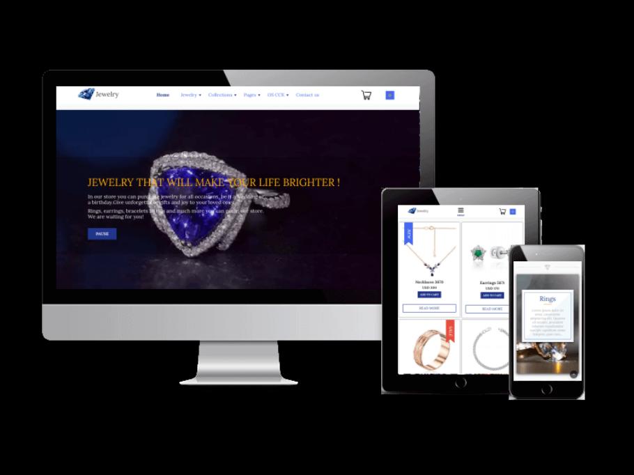 Joomla Template: Jewelry - Joomla eCommerce template