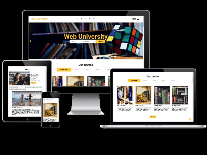 Joomla Template: Web University - Education website template