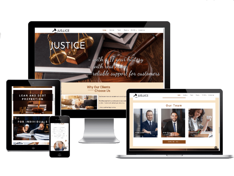 Joomla Template: Justice - Law Company Website