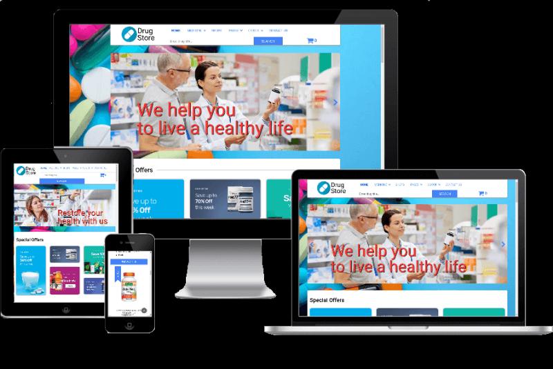 Joomla Template: Drugstore - Joomla Pharmacy template