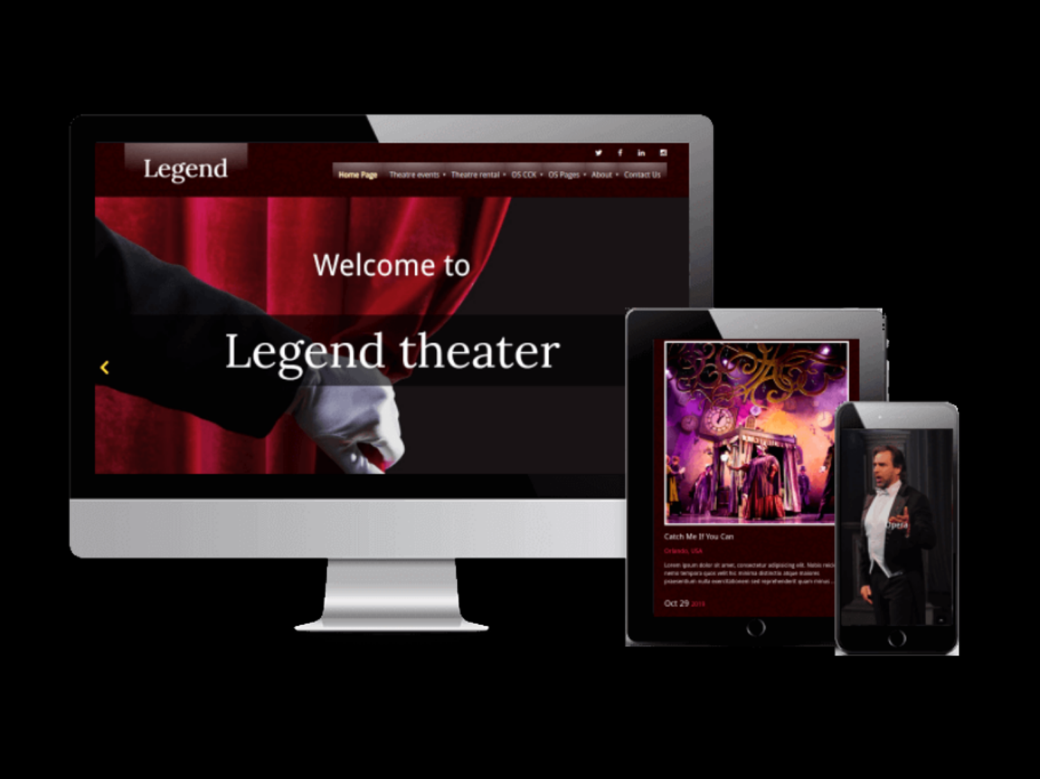 Joomla Template: Legend - Event Joomla Template