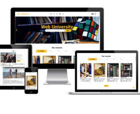 Joomla Templates: Web University - Education website template