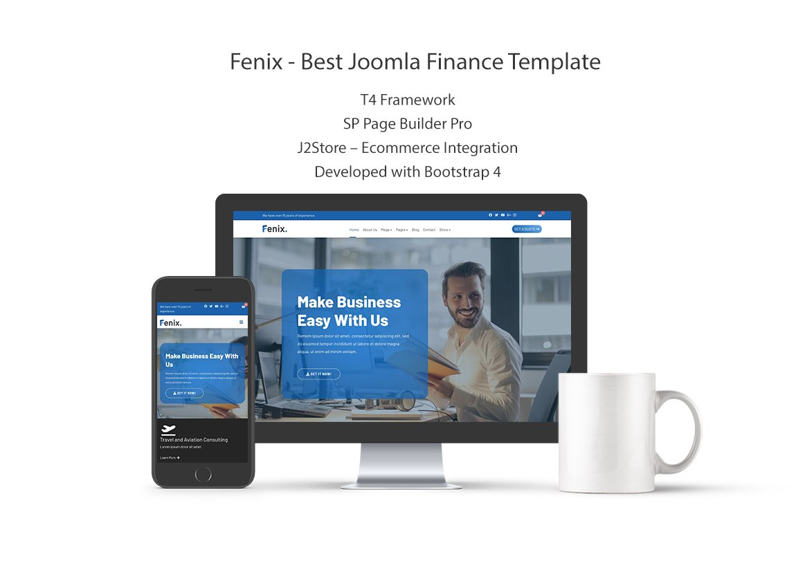 Joomla Template: Fenix Best Joomla Finance Template