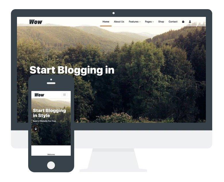 Wordpress Theme: Wow
