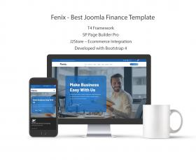 Joomla Free Template - Fenix Best Joomla Finance Template